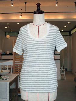 アンキャシェット Encachette ソフトボーダーTシャツ