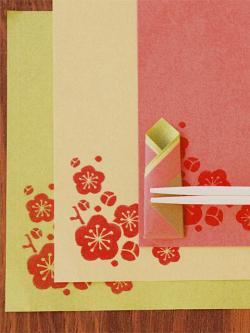 美濃和紙 古川紙工 日本の色箸セットイメージ