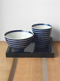 有田焼 キハラ 飯碗とカップ 藍
