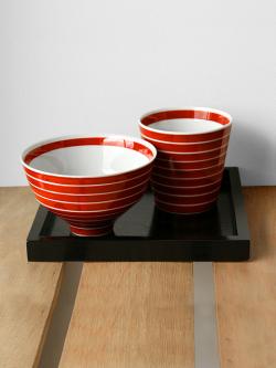有田焼 キハラ 飯碗とカップ 赤
